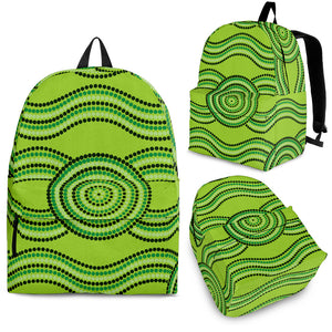 Australia Aboriginal Green Backpack