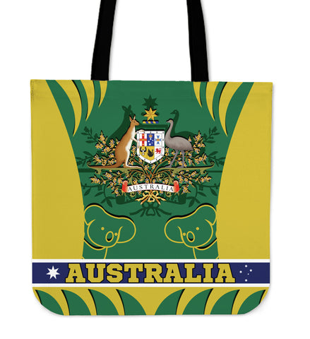 1stAustralia Tote Bags - Australian Coat Of Arms Bag Koala