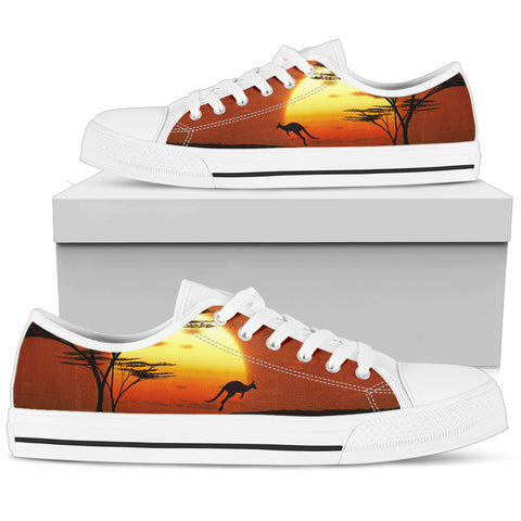 Image of Australia Low Top Shoes Kangaroo Sunset TH1