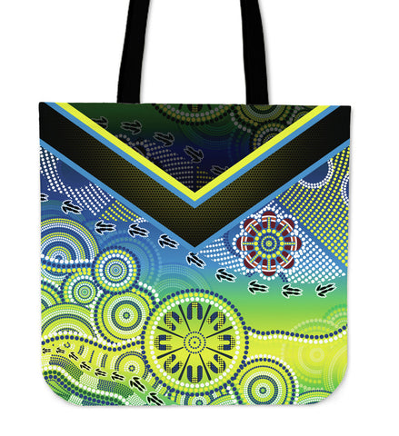 1stAustralia Aboriginal Tote Bags - Dot Painting Indigenous Circle Patterns