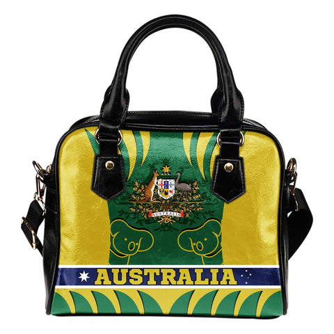 1stAustralia Shoulder Handbag - Australian Coat Of Arms Handbag Koala