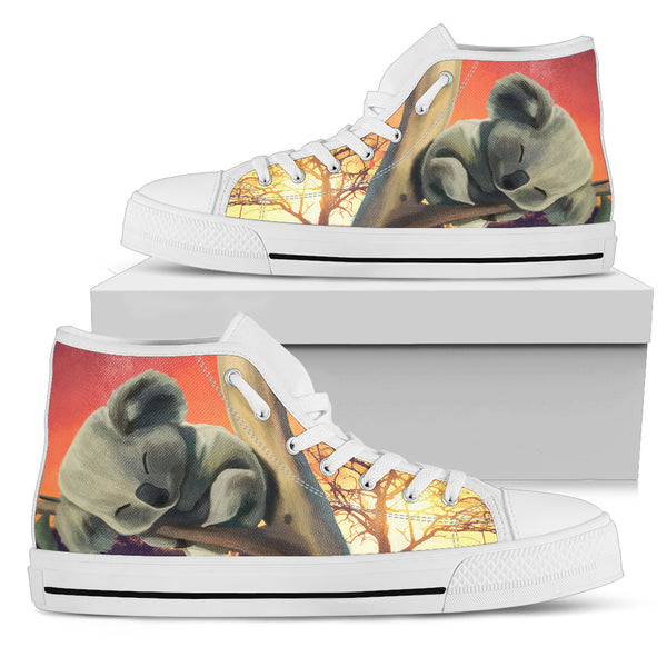 1stAustralia Canvas Shoes - Koala Sleeping Shoes - High Top - Nn0
