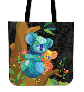 Australia Tote Bags Koala Cartoon With Mom