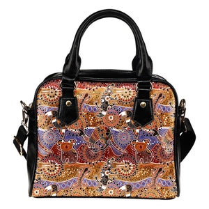 Australia Shoulder Handbag Aboriginal Bohemian Animals