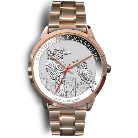 Australia Rose Gold Watch Kookaburra Coin