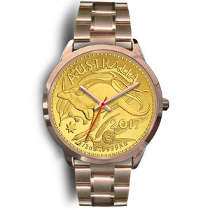 Australia Rose Gold Watch Kangaroo Gold Coin