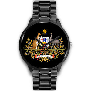 Australia Watch (Black) Coat Of Arm