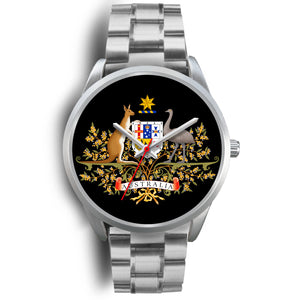 Australia Coat Of Arms Silver Watches