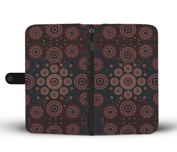 1stAustralia Wallet Phone Cases - Aboriginal Dot Painting Wallet Ver02