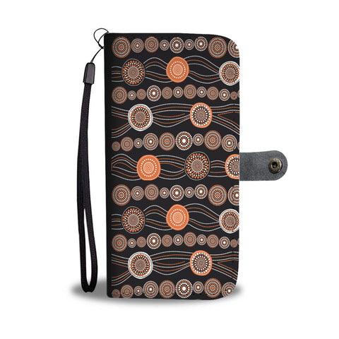 Australia Wallet Phone Cases Aboriginal Style