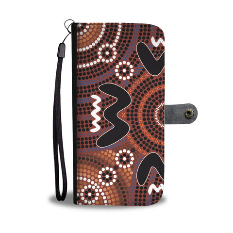 Australia Wallet Phone Case Aboriginal Pattern