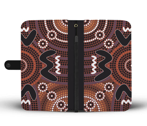 Image of Australia Wallet Phone Case Australia Pattern Pattern