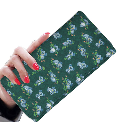 Koala Pattern Womens Wallet