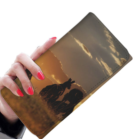 Kangaroo Under Sunset Womens Wallet