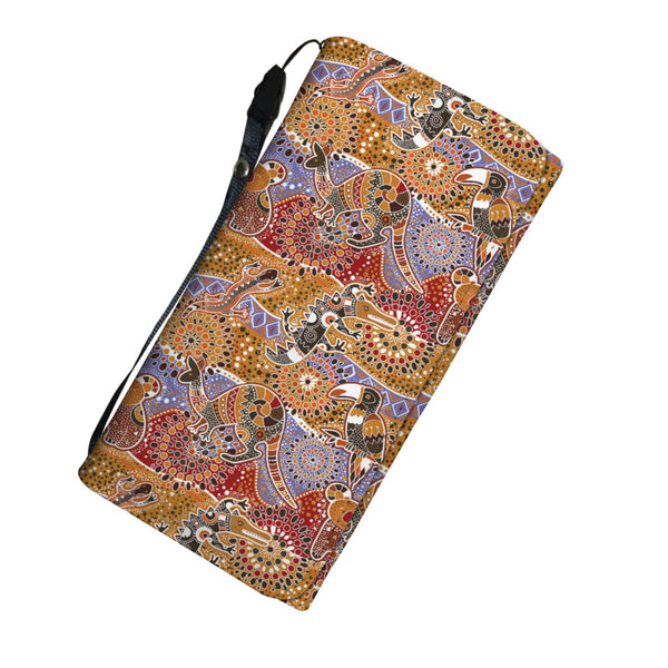 1stAustralia Wallet - Aboriginal Pattern Wallet Australian Animals - Women