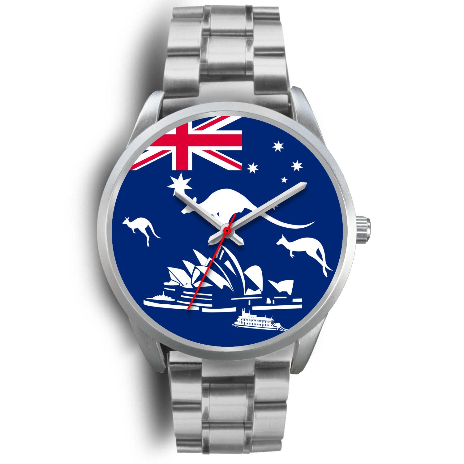 Australia Flag Kangaroo And Sydney Opera Luxury Watch