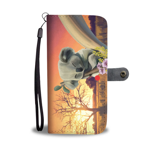 1stAustralia Wallet Phone Cases - Koala Wallet Sleeping Sunset Landscape Art - Th3
