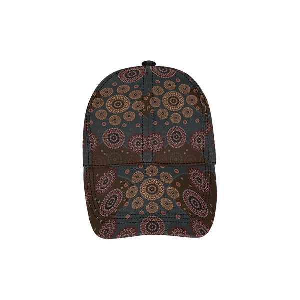 1stAustralia Dad Cap - Aboriginal Dot Painting Hat Ver02 - Th1