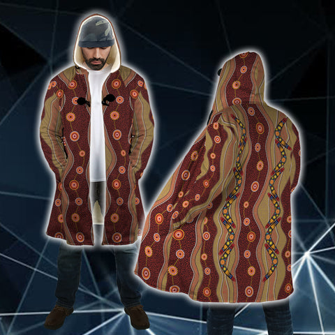 Australian Boomerang All Over Print Cloak - BN15