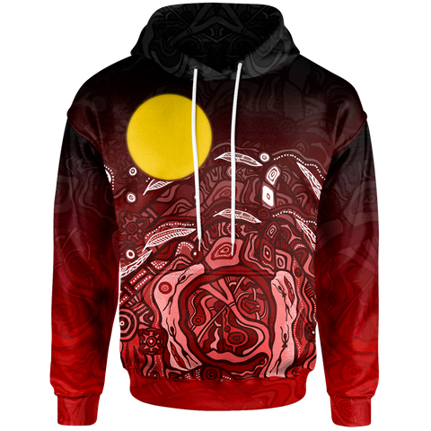 [Kids] 1stAustralia Aboriginal Zip-up Hoodie - Red Landscape - BN15