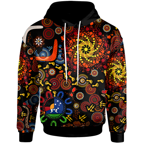 [Kid] 1stAustralia Aboriginal Hoodie - Indigenous Footprints (For Kids]