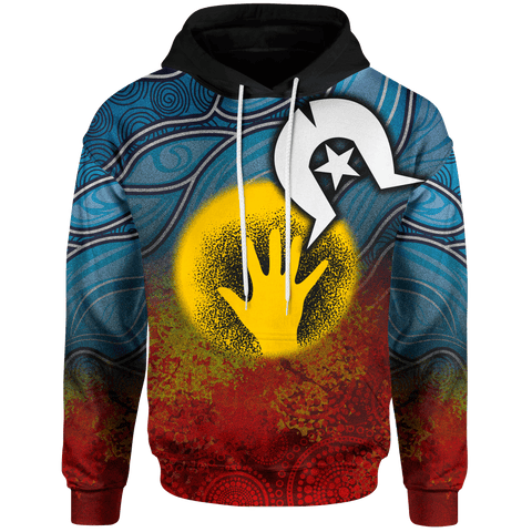 [Kids] 1stAustralia Aboriginal Kid Hoodie - Aboriginal and Torres Strait Islanders Flag