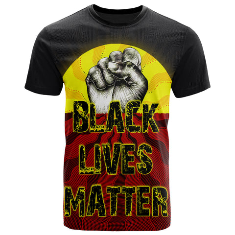 1stAustralia T-shirt, Black Lives Matter Sun Dot Painting