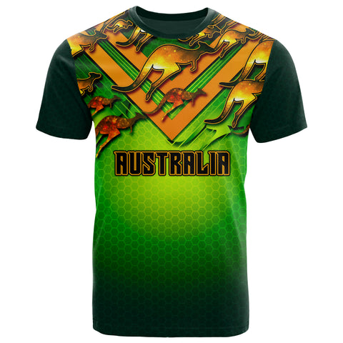 1stAustralia T-shirt - Australian Kangaroo T-shirt Aussie National Colors