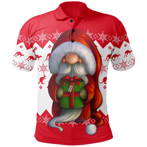 Australia Christmas Polo Shirt - Christmas Gnome