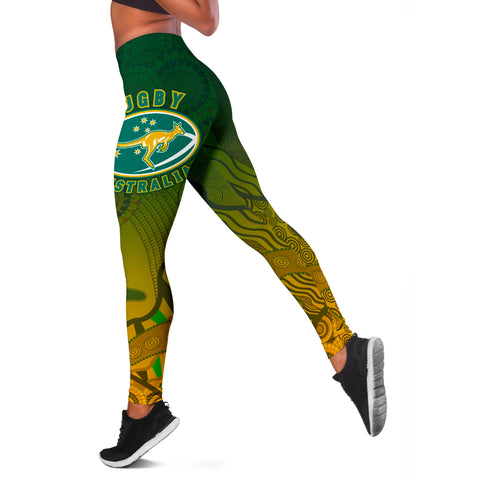 1stAustralia Leggings, Aboriginal Australian Rugby Tight Pants