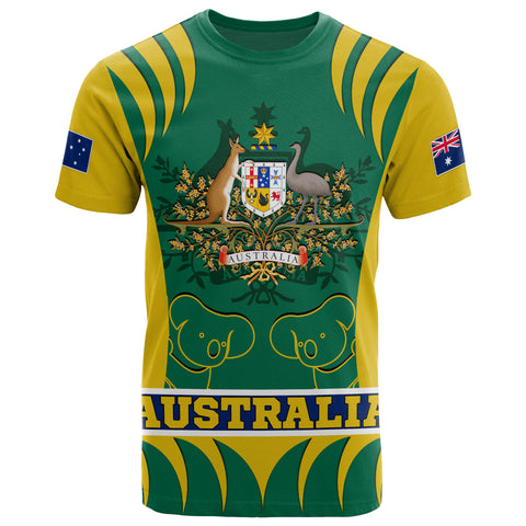 1stAustralia T-shirt - Australian Coat Of Arms Shirt Koala