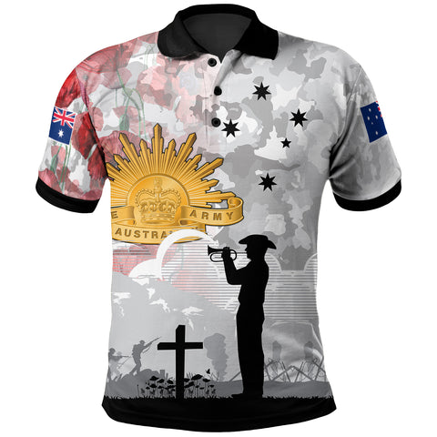 1stAustralia Anzac Polo - We Will Remember Them