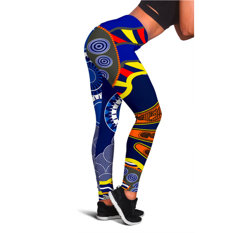 1stAustralia Aboriginal Leggings, Australian Boomerang Dot Painting Art