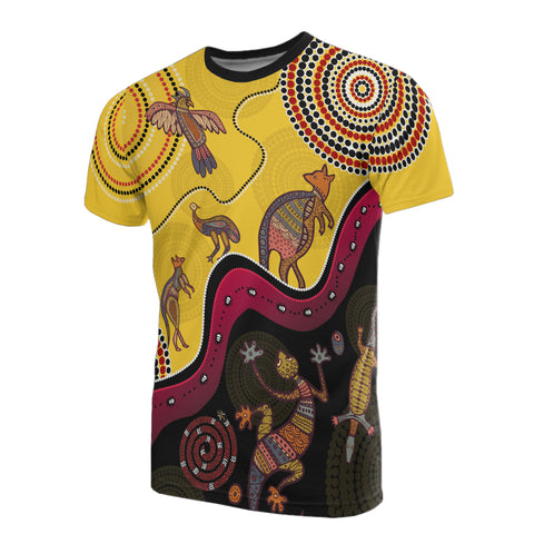 1stAustralia Aboriginal T-shirt - Indigenous Animals Life Art