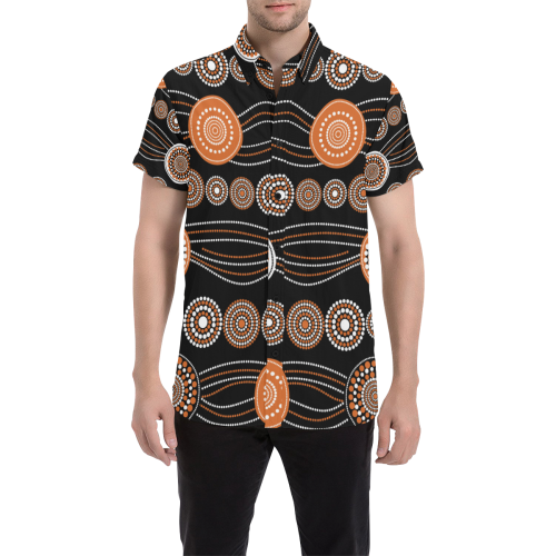 Australia Short Sleeve Shirt Classic Aboriginal