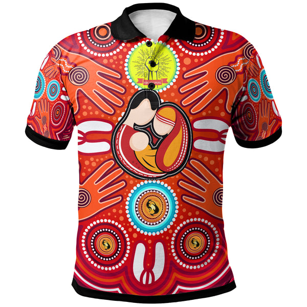 1stAustralia Polo Shirts - Aboriginal Family With Dot Painting art - BN17