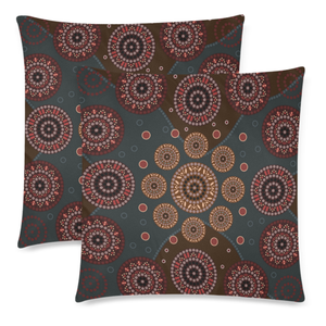Australia Pillow Covers Aboriginal Style