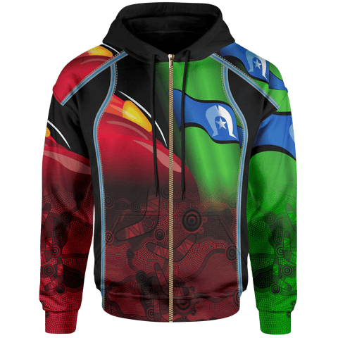 1stAustralia Aboriginal Zip-up Hoodie, Naidoc  Week