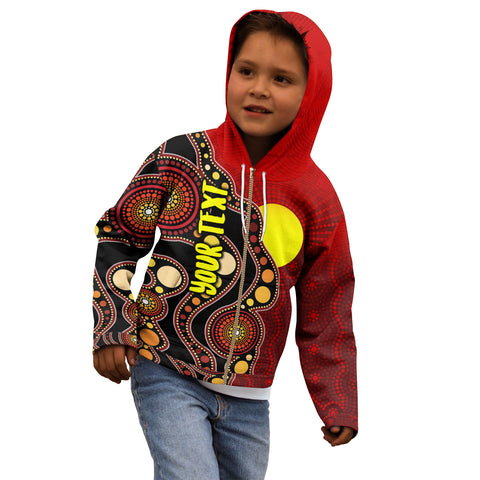 [Custom - Kid] 1stAustralia Aboriginal Zip-up Hoodie, Australia Aboriginal Lives Matter Flag (For Kids)