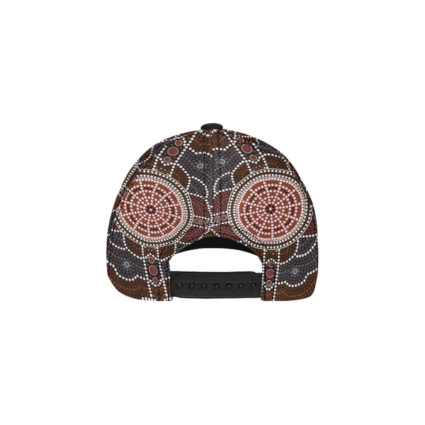 1stAustralia Dad Cap - Aboriginal Dot Painting Hat Ver03 - Th1