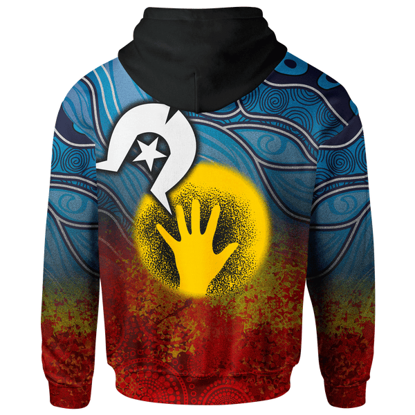 [Custom-Kids] 1stAustralia Aboriginal Kids Zip-up Hoodie - Aboriginal and Torres Strait Islanders Flag