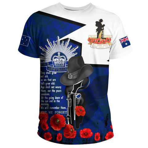 1stAustralia T-Shirt Anzac Lest We Forget A7