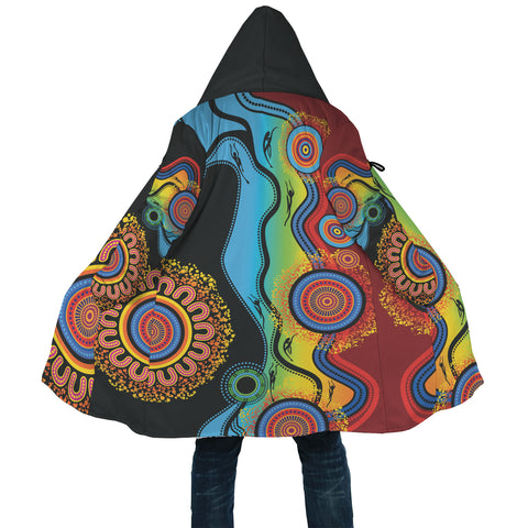 1stAustralia Cloak - Aboriginal Cloak Blue Dream