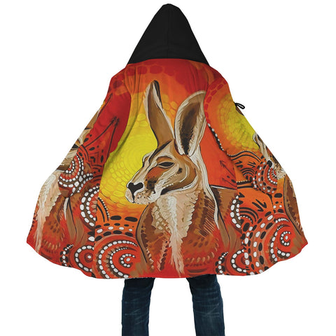 1stAustralia Cloak - Kangaroo Cloak Aboriginal Patterns Painting
