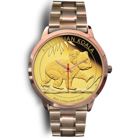 1stAustralia Watch - Koala Coin Style Rose Gold Watch