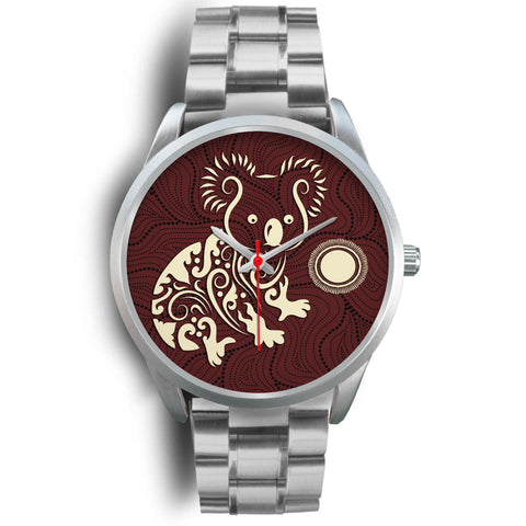1stAustralia Aboriginal Watch, Koala Patterns Treasure Silver Watch