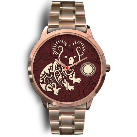 1stAustralia Aboriginal Watch, Koala Patterns Treasure Rose Gold Watch