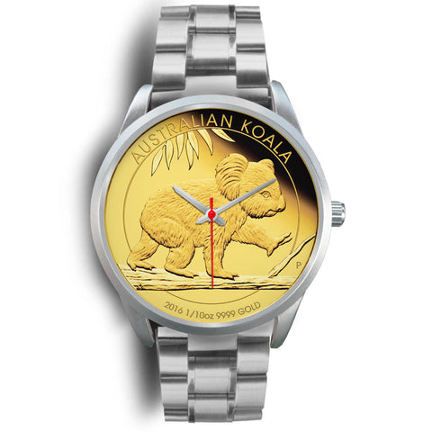 1stAustralia Watch - Koala Gold Coin Silver Watch - Unisex
