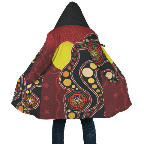 1stAustralia Aboriginal Cloak, Australia Indigenous Circle Dot Painting Art