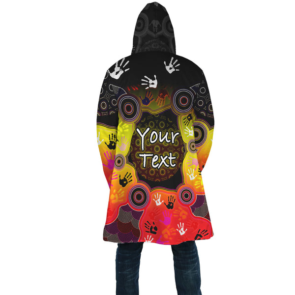 [Custom] 1stAustralia Aboriginal AOP Cloak, Indigenous Circle Dot Painting Hand Art